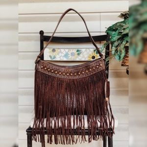 Handbags - Boho Western Chic Fringe Concealed Handgun Hobo ✨